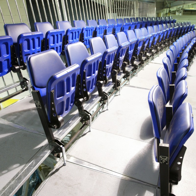 Interior grandstands